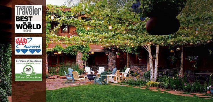 El Portal Sedona Hotel - the courtyard for dinner