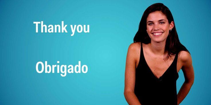 Sara Sampaio, a model and Victoria's Secret Angel from Porto, Portugal, teaches you to speak portuguese