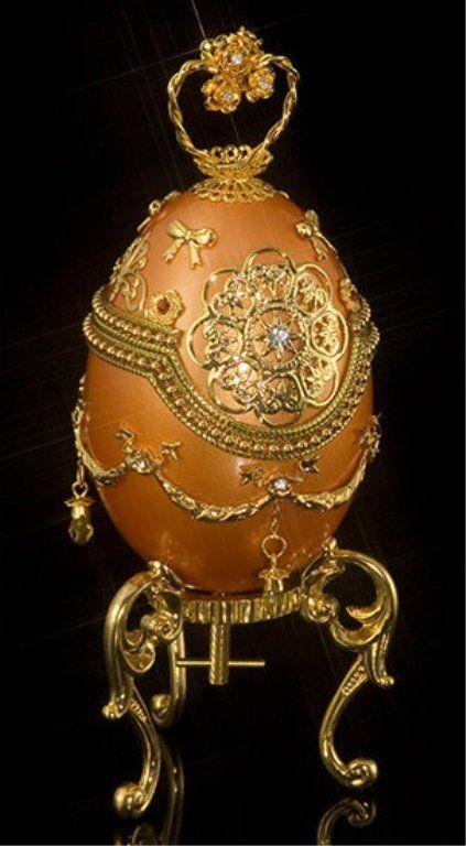 Decorative Royal Golden Egg : Lot 396, Live Auctioneers.com