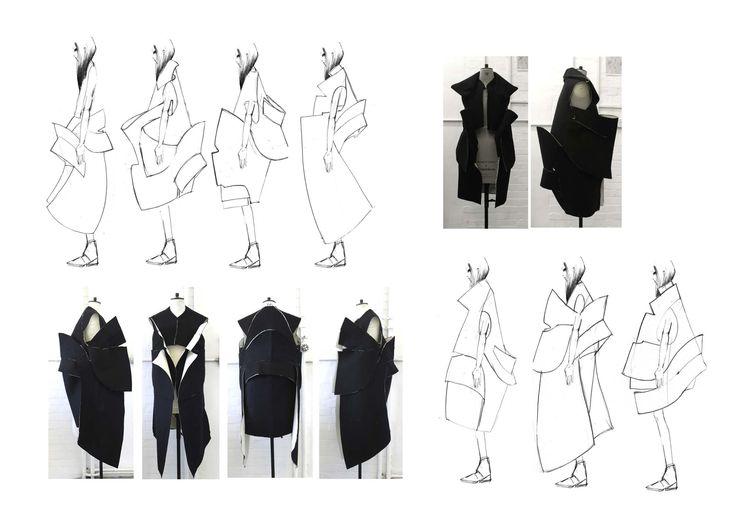Fashion Sketchbook - fashion drawings & garment development; fashion design process // Katie Roberts-Wood