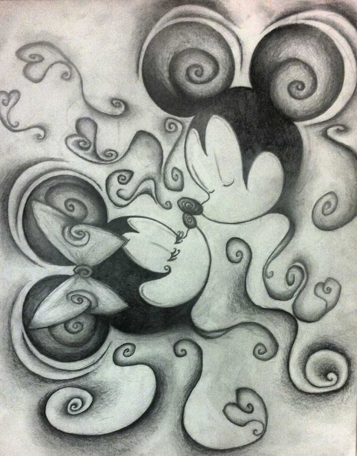 Minnie Mouse Gangster Drawings