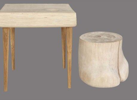 Unikatowe meble z drewna POPULINA&DOT: stół i siedzisko. Autor: Ada Birecka