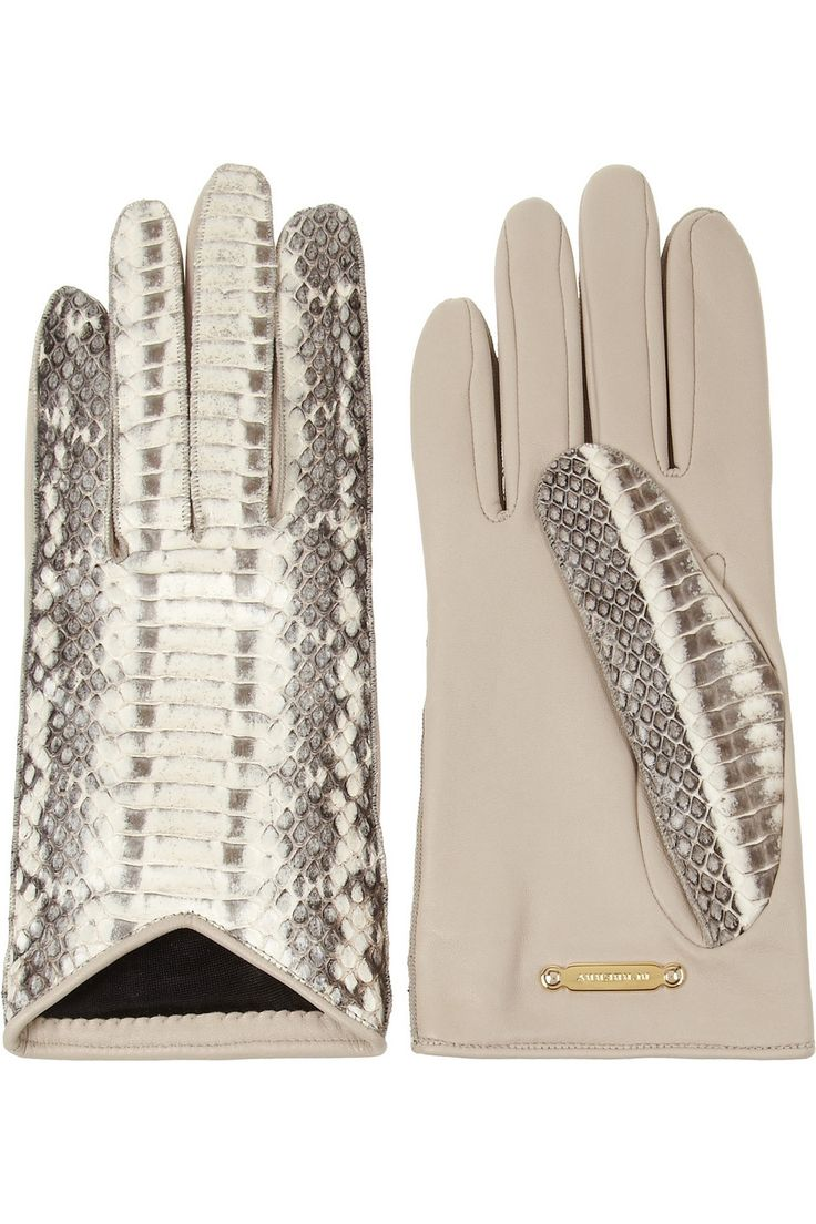 Leather driving gloves vancouver - Burberry Shoes Accessories Elaphe And Leather Gloves Shopstyle