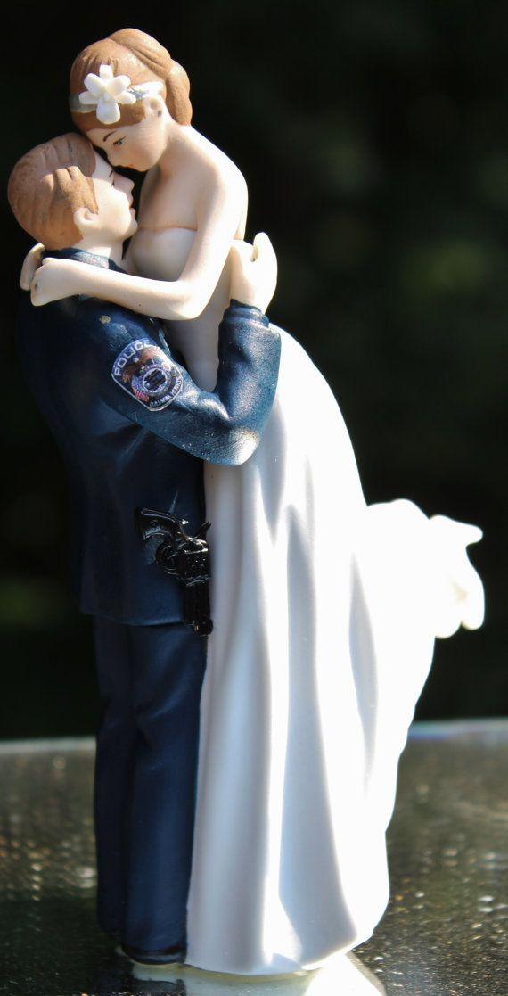 Police Officer COP law enforcement Gun Wedding by CarolinaCarla