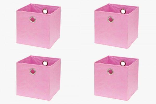 Ikea Kallax Fach Box Regalbox 4er Set In 2020 Kallax Ikea Stofftiere