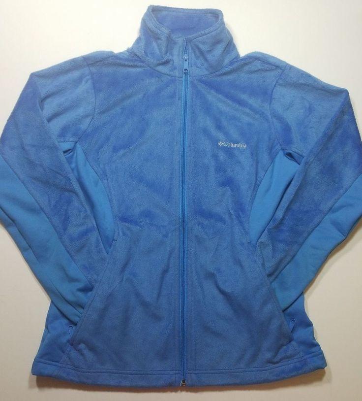 Columbia Fleece Omni-Heat Full Zip Jacket Womens Small baby blue  #Columbia #FleeceJacket #Casual