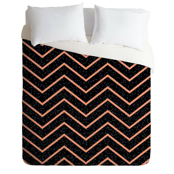 Gabi Glitter Coral Duvet Cover | DENY Designs Home Accessories