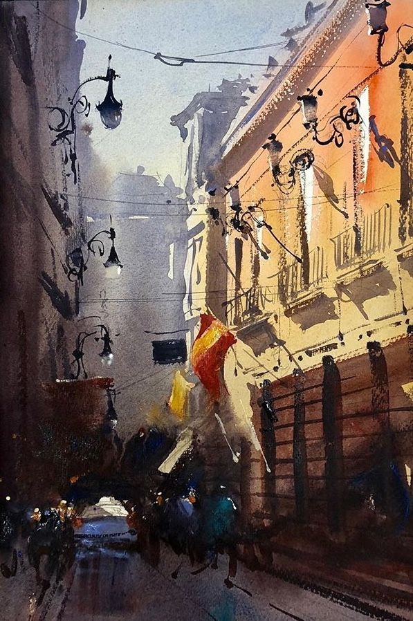 Alvaro Castagnet With Images Cityscape Painting Watercolor City