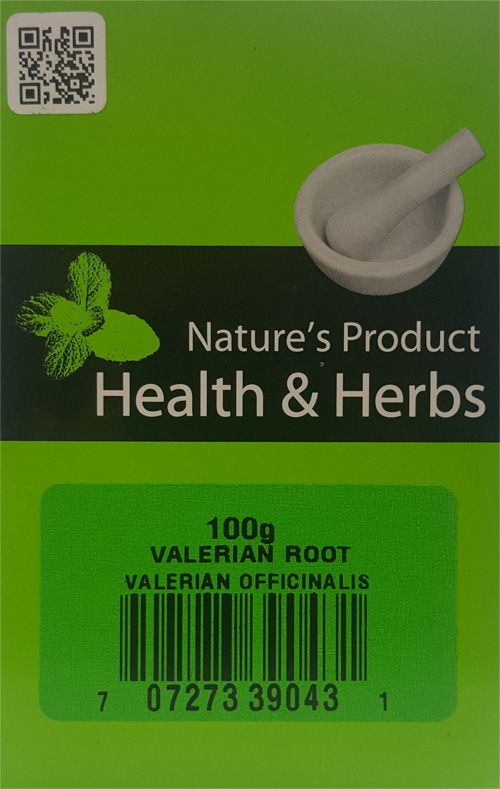 Natures Product Health & Herbs Valerian Root 100g Valerian Officinalis