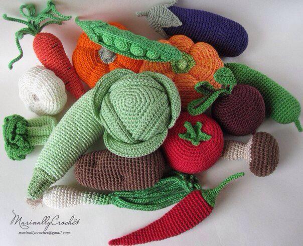 Crochet Amigurumi Vegetables : 63 best images about vegetables crochet on Pinterest ...