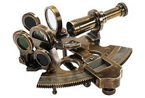 One Kings Lane - For the Collector - Bronze Pocket Sextant