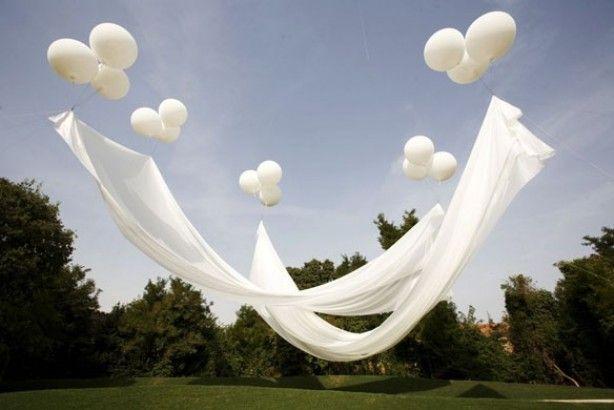 geweldig idee ,vullen met helium en ook heel goed binnen te gebruiken in hoge ruimtes