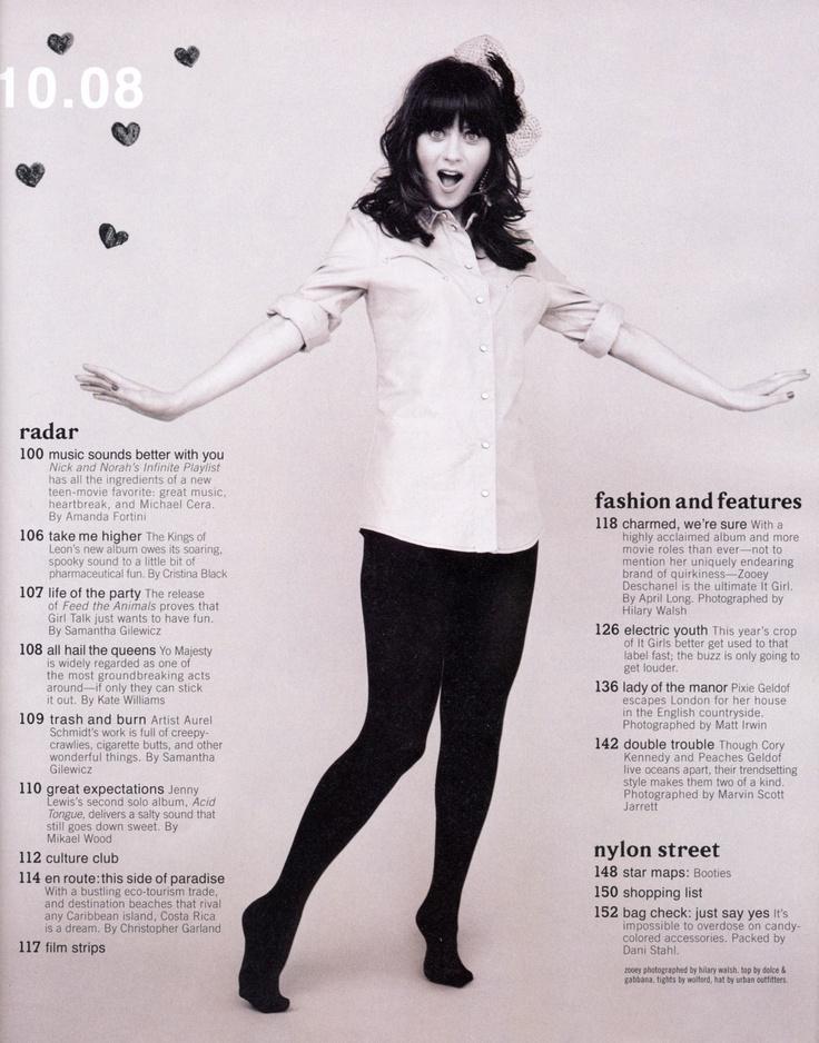 Have fun like Zooey Deschanel! #fashion #style #celebs #editorial