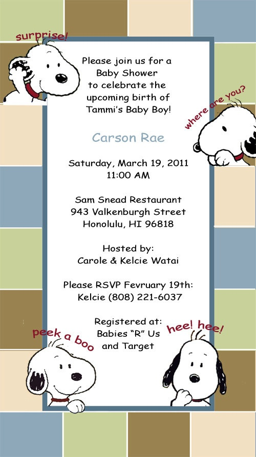 104 best images about snoopy on pinterest | baby showers, cute, Baby shower invitations