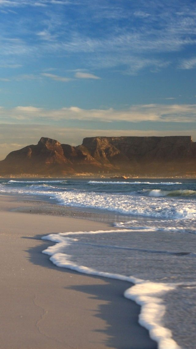 Table Mountain, South Africa iPhone 5 wallpapers, backgrounds, 640 x 1136