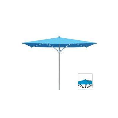 Tropitone Trace 8' Square Market Umbrella Fabric: Sparkling Water, Frame Finish: Parchment