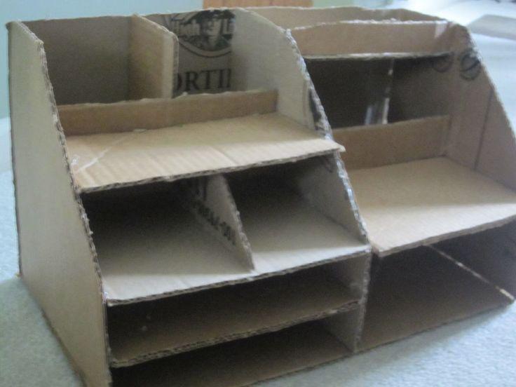 Best 25 cardboard organizer ideas on pinterest for Diy desk organizer ideas
