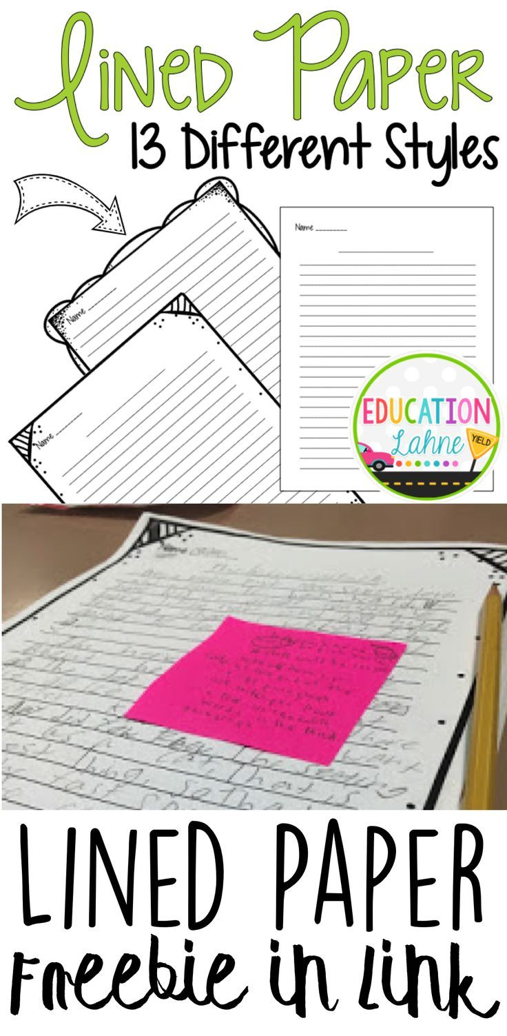 Looking for upper elementary lined paper? This pack is perfect for writing! Checkout the freebie and version 2 in the link as well!