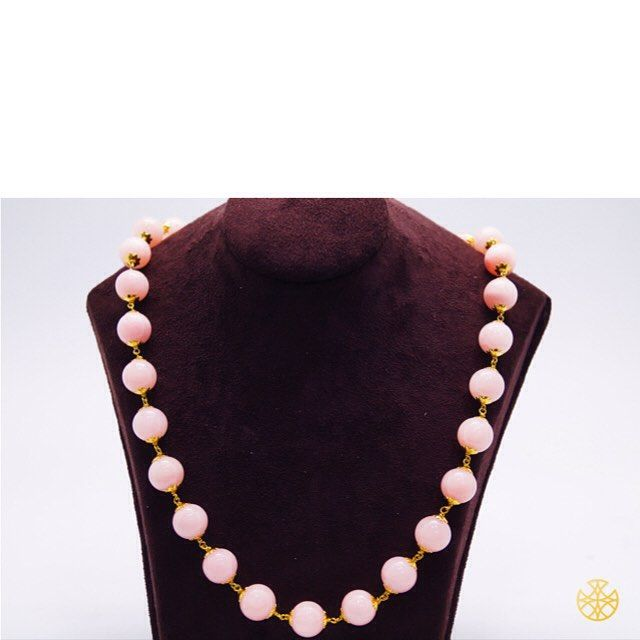 The subtle beauty of pink pearls in a traditional Mala style ornament can make you look classy at any occasion! Outfit complete!  Follow us on Instagram: https://instagram.com/malanajewels/  Like us on Facebook: https://www.facebook.com/malanajewels  To buy, please mail us on info@malanajewels.com with your requirements or call us on +91 9820302982.