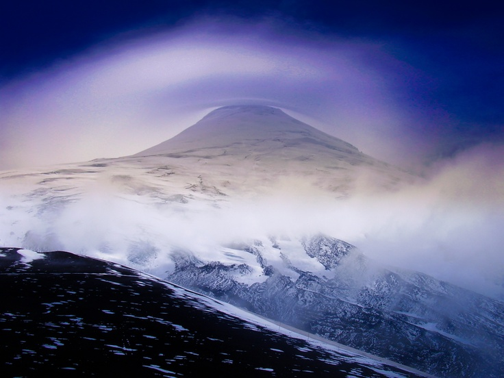 Osorno Volcano. Located in the Region de los Lagos area. Also know as the Fuji from Southern America