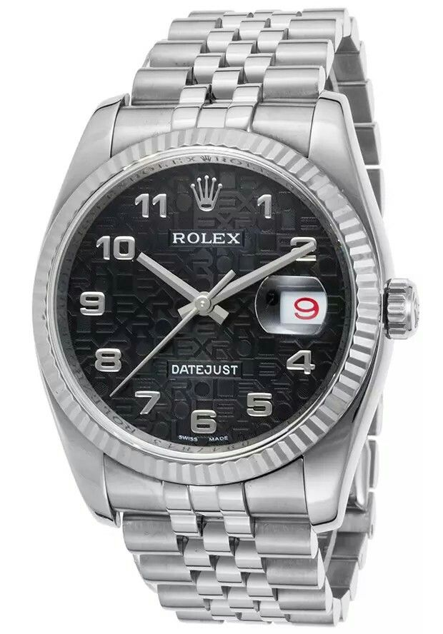 ROLEX-116234-2-PO Men's Pre-Owned Datejust Automatic Stainless Steel Black Dial Rolesor mens-pre-owned-datejust-automatic-stainless-steel-black-dial-rolesor-rolex-116234-2