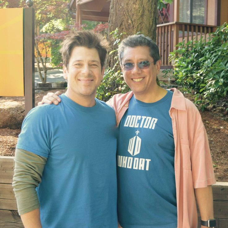 Christian Kane and Dean Devlin. This was taken on CK's Birthday.
