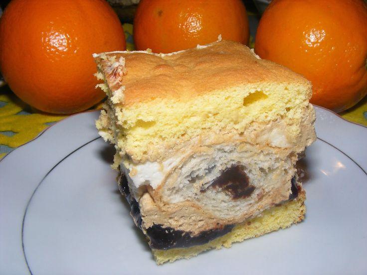 gotuję na co dzień: Ciasto z rogalikami  Siostry Anastazji