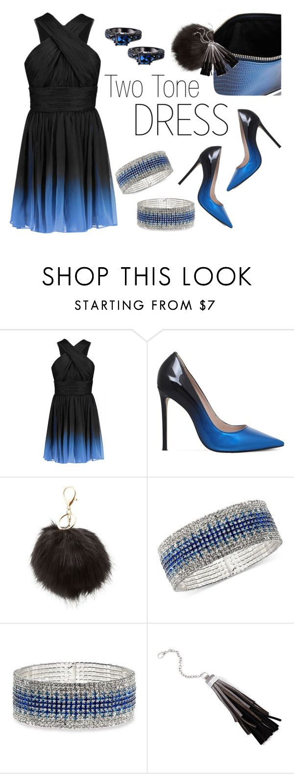 """""""On Trend: Two-Tone Dresses Contest"""" by texasradiance ❤ liked on Polyvore featuring Halston Heritage, Carvela, Charlotte Russe, Anne Klein and Lauren Ralph Lauren"""