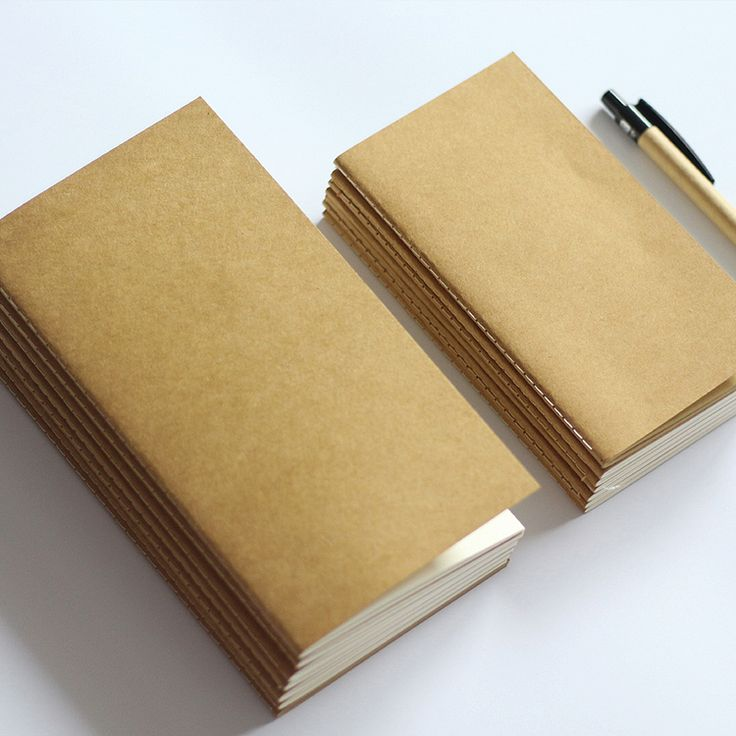 Standard/Pocket Kraft Paper Notebook Blank Notepad Diary Journal Traveler's Notebook Refill Planner Organizer Filler Paper