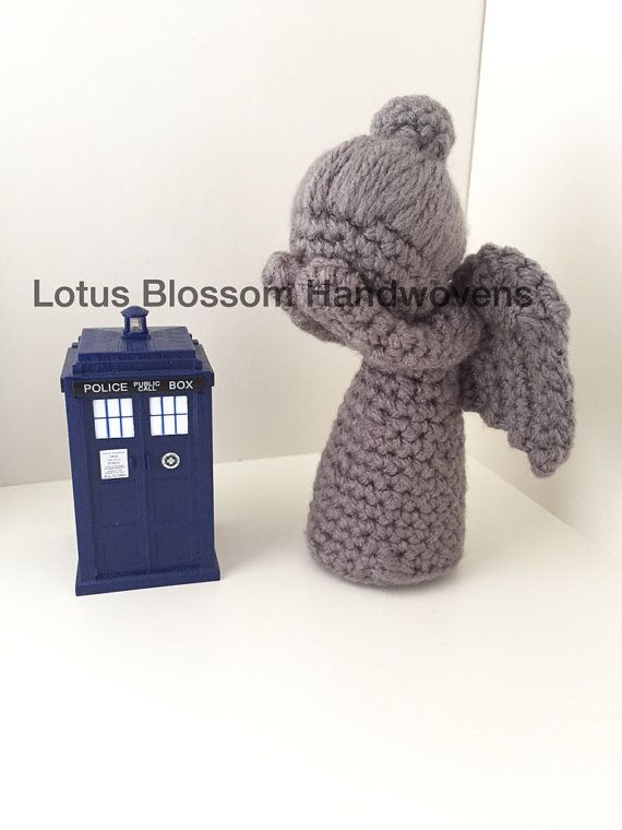 Doctor Who Weeping Angel Crochet Weeping Angel by LotusBlossomHW