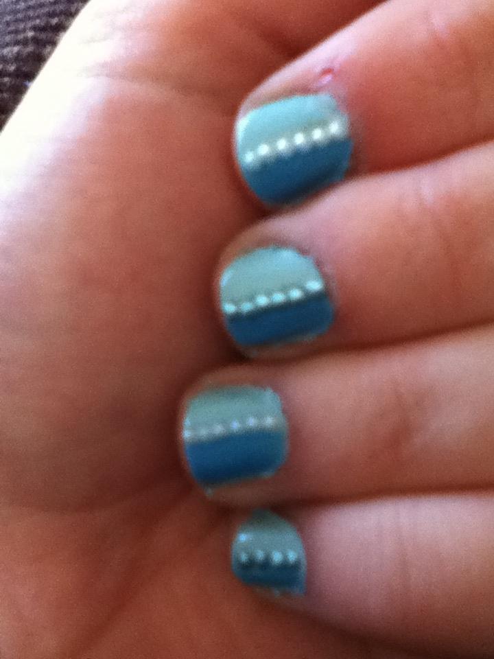 pretty blue nail art nails pinterest