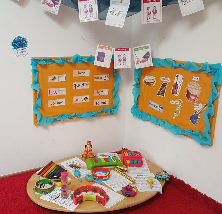 Early Years Musical instruments Small World Area@Acorns Nursery Bucharest