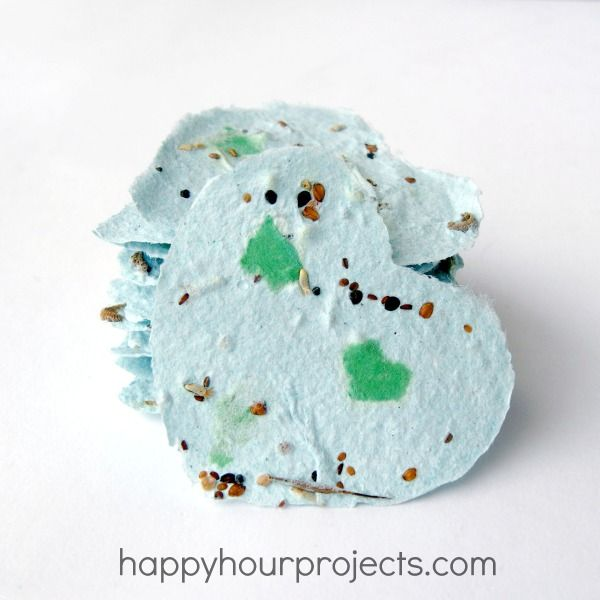 Recycled, Plant-able Junk Mail Seed Tags - A great Earth Day project for spring.