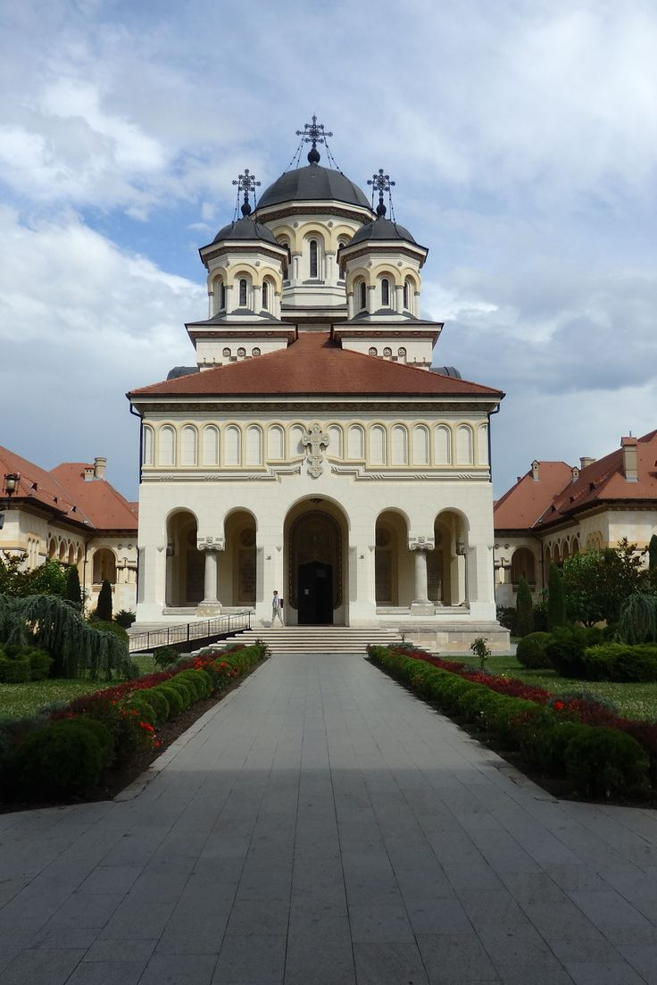 Cathedral at Alba Iulia, Romania. Built for the coronation in 1922 of King Ferdinand I and Queen Mary (granddaughter of Queen Victoria). According to a sign posted at the cathedral, the style is neo-Romanian, with elements of Byzantine.