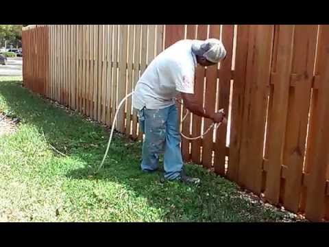 How To Stain A Fence With A Sprayer Miami South Painting