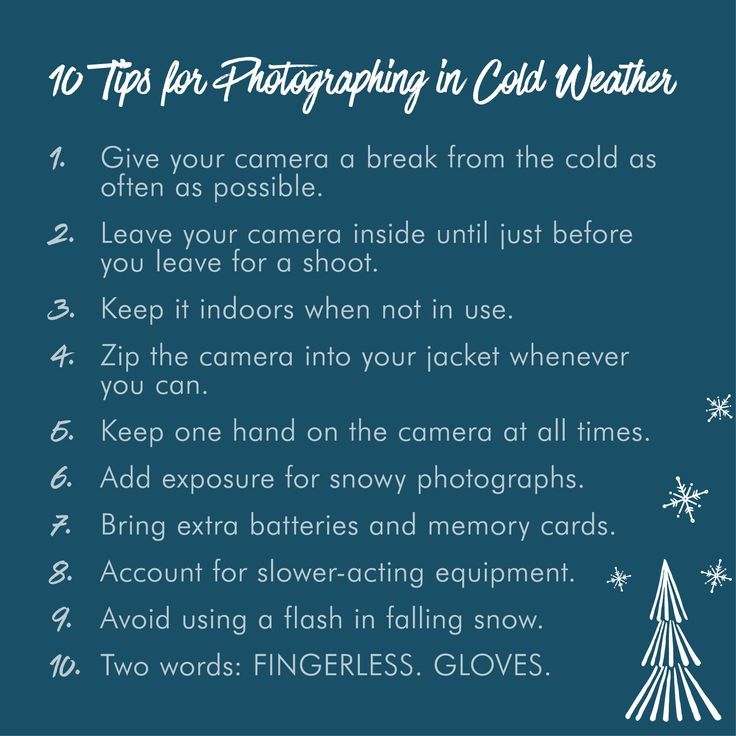 Image result for cold weather camera infographic