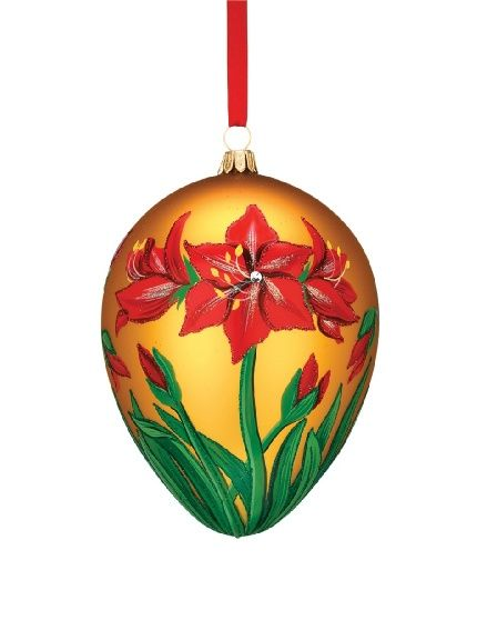 Blown Glass Chicken Ornament