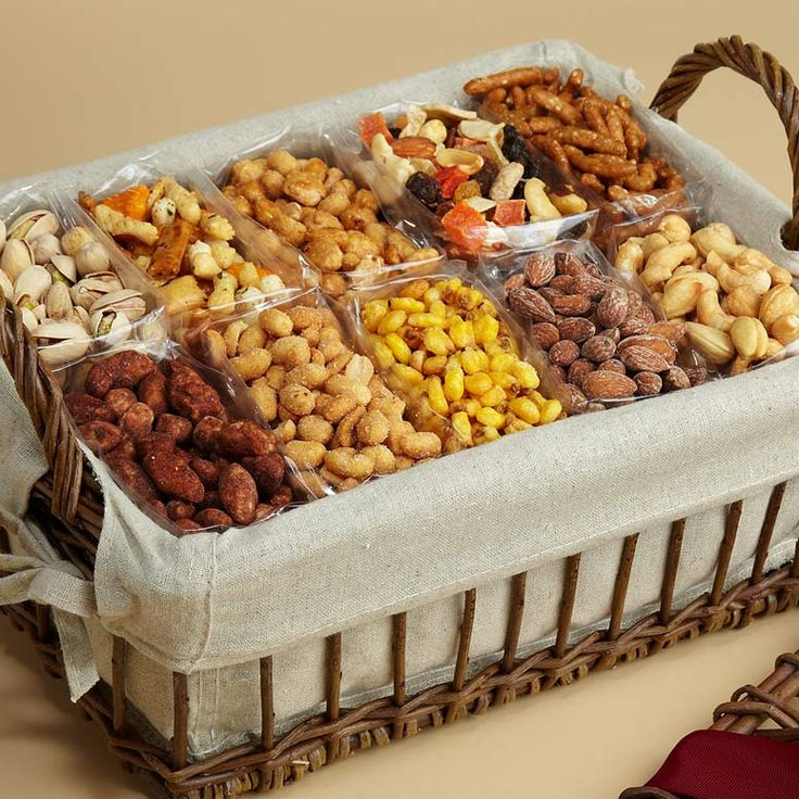 Snack Attack Gift Basket - nuts