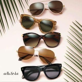 All new sunglasses from Stella & Dot, perfect for summer. White Aviator Sunglasses & Women's White Aviator Sunglasses    Stella & Dot - http://www.stelladot.com/angiehurlburt