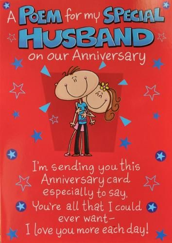 Anniversary Cards For Husband | Husband Anniversary Card