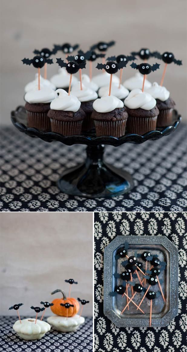 Celebrate with these adorable Bat Cupcake Toppers!