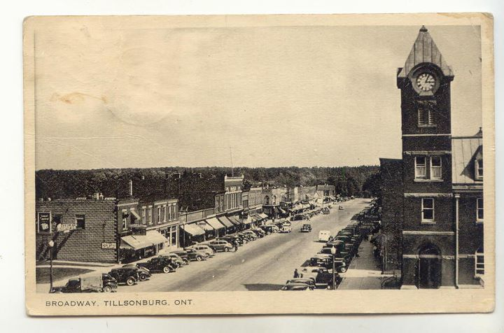 Looking down Broadway in the past.