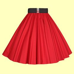 Plain Red Full Circle Skirts in 100% cotton from £21.50
