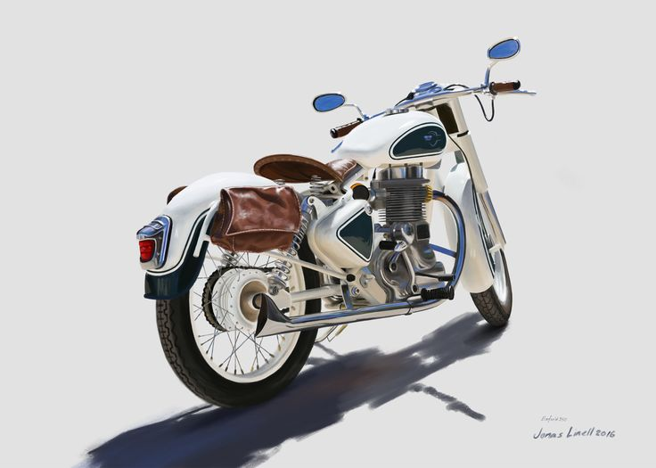 A study in tan. Royal Enfield Bullet 350 painted by Jonas Linell 2016.