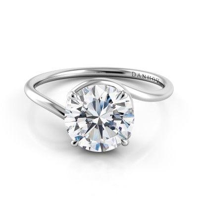 Danhov Abbraccio Swirl Engagement Ring