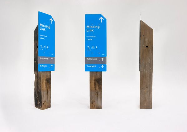 Makara Peak Wayfinding by Oliver Ward, via Behance