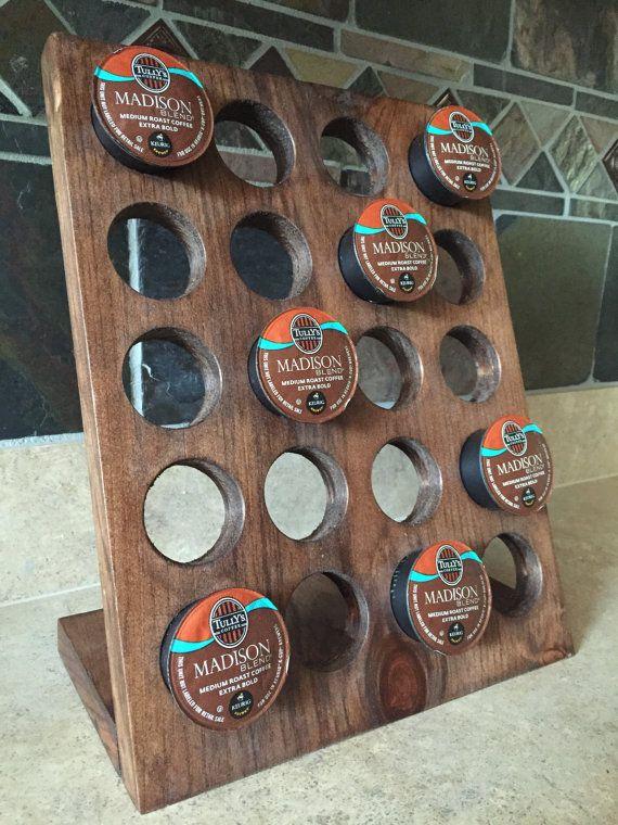 Keurig Kcup Holder Coffee Organizer K-Cup by BlackDogDesignCo                                                                                                                                                                                 More