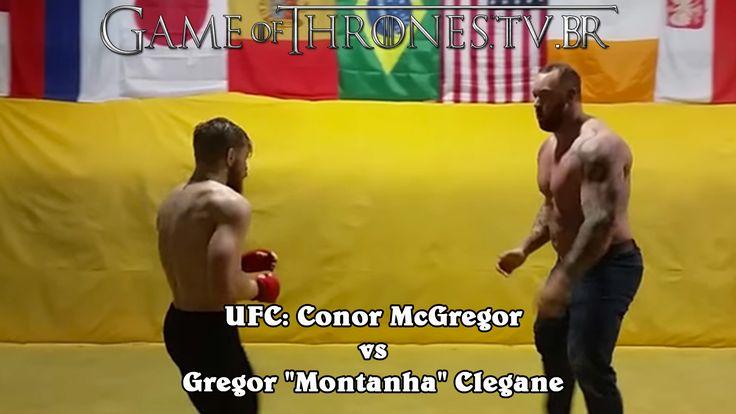 """UFC: Conor McGregor contra Gregor """"Montanha"""" Clegane """"Las Vegas, 12 de dezembro de 2015, UFC 194. Um dia triste para os brasileiros porque nosso grande lutador José Aldo foi nocalteador por Conor..."""