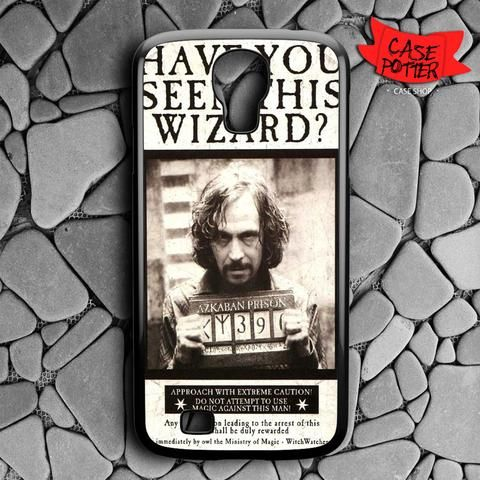 Harry Potter Wanted Poster Samsung Galaxy S4 Black Case