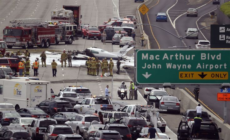 2 injured as small plane crashes into freeway in Southern California https://tmbw.news/2-injured-as-small-plane-crashes-into-freeway-in-southern-california  A small twin-engine plane dropped out of the sky and exploded in flames on a busy freeway near a Southern California airport Friday morning, injuring the two people aboard but clipping only one passing vehicle, a fire official said.The Cessna 310 aircraft crashed on Interstate 405, just short of a runway at John Wayne Airport in Costa…
